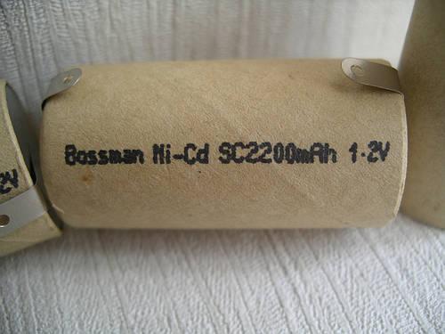 Аккумулятор Bossman Sc 2200 mAh, 1.2 v, 22х42 мм, с техническими выводами