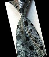 Галстук мужской серый с черным - будущее KAILONG