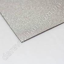 Бумага декоративная на клеевой основе А4, серебро, 10 листов