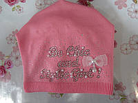 """Подростковая зимняя шапка на флисе  """"Надпись"""" на девочку. Разные цвета. Оптом., фото 1"""