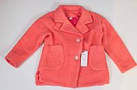 Красивое осеннее демисезонное детское пальто для девочки.