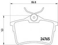Колодки тормозные задние, дисковые (датчик износа)  ROAD HOUSE 2138200; 425429, 1608520480 на Peugeot Partner