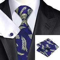 Подарочный мужской набор (галстук, запонки и платок) от Jason&Vogue JASON&VOGUE