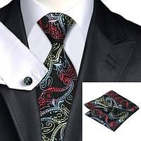 Подарочный мужской набор черный с абстракциями JASON&VOGUE