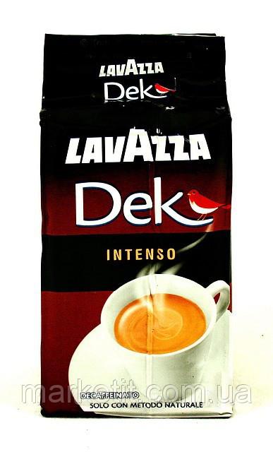 Кофе молотый из Италии Lavazza Dek Decaffeinato Intenso 250г
