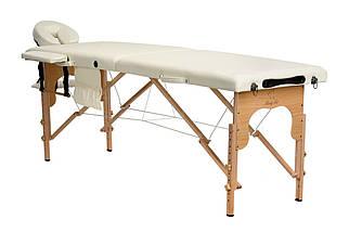 Массажный стол BODYFIT 2 сегментный деревянный, бежевый, фото 3