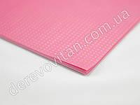 Бумага упаковочная, розовая в золотой горох, 50×70 см