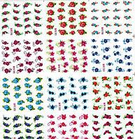 Водные Наклейки для ногтей  цветы лист YB-996