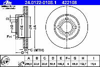 Диск тормозной передний TRW DF2599; LUCAS DF2599; BREMBO 09571010, 9571010; NK 204738 на Audi Coupe