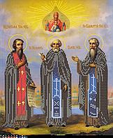 """Набор """"Икона преподобным и богоносным Зосиме, Савватию и Герману, Соловецким Чудотворцам"""""""