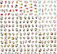 Водные Наклейки для ногтей лист 1065 котики