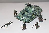 """Модели танков 1:72. Американский танк М4""""Sherman""""(Шерман) с солдатами, 2-ая мировая война."""
