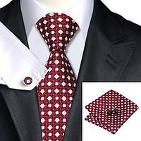 Подарочный мужской набор красный в розовый квадратик и желто-белый цветочек JASON&VOGUE