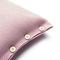 Подушка декоративная Ohaina на пуговицах  коллекция Умиротворение 40х40  цвет сумрачно-розовый, фото 1
