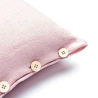 Подушка декоративная Ohaina на пуговицах коллекция Умиротворение 40х40  цвет сумрачно-розовый
