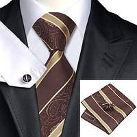 Подарочный мужской набор с оттенками коричневого в полоску 01 JASON&VOGUE