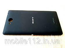 Задняя крышка Sony C2305 S39h Xperia C, чёрная, оригинал (Китай)