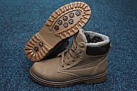 Мужские зимние ботинки Dual хаки  в cтиле Timberland, фото 1