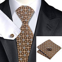 Подарочный мужской набор коричневый оригинальный JASON&VOGUE