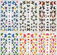 Водные Наклейки для ногтей лист W 121 бабочки