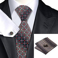 Подарочный мужской набор серый с красным и розовым JASON&VOGUE