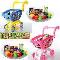 Детская тележка с продуктами