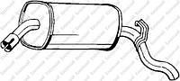 Глушитель, задняя часть POLMOSTROW 1731; BOSAL 185045; PLOCIENNIK PL1731ALU; ASSO 347072 на Opel Omega
