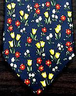 Галстук мужской темно-синий в цветах ALSTOM
