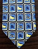 Галстук мужской синий в квадратик ALSTOM