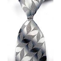 Галстук мужской серый с черным KAILONG