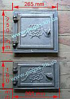 Дверки чугунные комплект №4 (топочная+поддувальная), фото 1