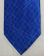 Галстук мужской синий  в геометрических линиях ALSTOM