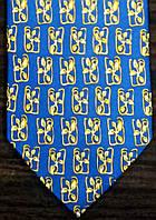 Галстук мужской синий с желтым оригинальным узором ALSTOM