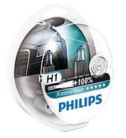 "Автомобильные галогенные лампы ""PHILIPS""(H1)(X-treme Vision)(+100%)(12V)(55W), фото 1"