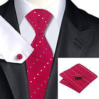 Подарочный мужской набор красный в горошек JASON&VOGUE