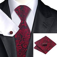 Подарочный мужской набор красный с черным в абстракциях JASON&VOGUE