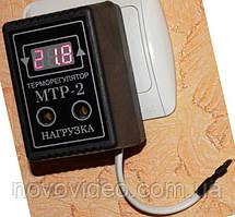 Терморегулятор МТР-2 на 10А цифровой в розетку с коротким датчиком