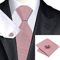 Подарочный мужской набор красно-розовый в квадратик JASON&VOGUE