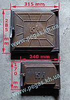 Дверки печные чугунные комплект, барбекю, мангал, печи, грубу, фото 1