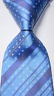 KAILONG Галстук голубой с логотипом Lovis Vuiton