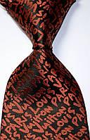 Галстук мужской в стиле Lovis Vuiton оттенка оранжевого Tie