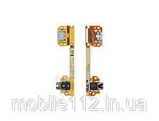 Шлейф для Asus ME370 Google Nexus 7, с разъемом зарядки, разъемом наушников