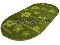 """Рельефный овальный ковер Радуга """"Бусины-цветы"""", цвет зеленый"""