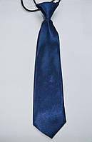 Галстук детский темно-синий однотонный