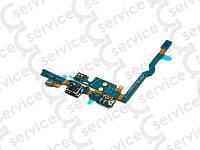 Шлейф для LG P760 Optimus L9/ P765/ P768 с разъемом зарядки, кнопкой Меню (Home), подсветкой сенсорных кнопок, микрофоном, компонентами
