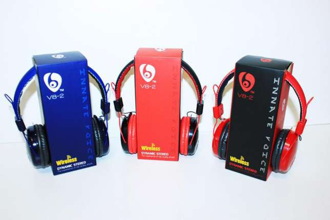 Беспроводные наушники bluetooth stereo VYKON V8-2 гарнитура/mp3