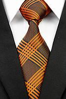 KAILONG Галстук оранжевый в решеточку