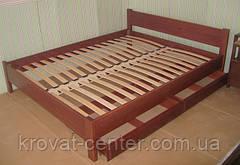 """Кровать белая """"Эконом"""". Массив - сосна, ольха, береза, дуб., фото 3"""