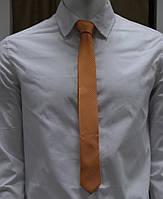 Bow Tie House™ Галстук оранжевый узкий в полосочку