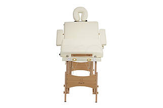 Массажный стол BODYFIT 4 секционный деревянный, бежевый, фото 2